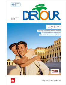"Cover des Reisekataloges ""DERTOUR Gay Travel"""